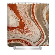 Poured Agate Painting Six Close-up Two Shower Curtain