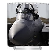Close-up View Of A F-15c Eagle Shower Curtain