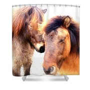 Close Your Eyes And Imagine That You Are Among Friends  Shower Curtain