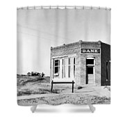 Closed Bank, 1936 Shower Curtain