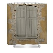 Closed Shutters Shower Curtain