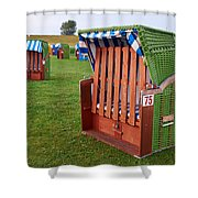 Closed Sunchairs Shower Curtain
