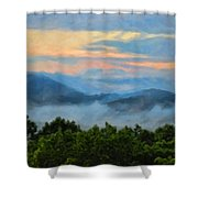 Closer To Heaven In The Blue Ridge Mountains Shower Curtain