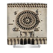 Closeup Of Assisi Cathedral Shower Curtain