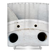Closeup Of Metal Hydroelectric Turbine Rotor Shower Curtain