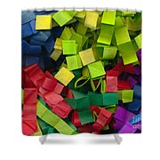 Colorful Cut Tissue Paper Shower Curtain