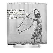 Clothed Me With Joy Shower Curtain
