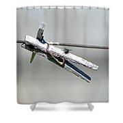 Clothesline Layover Shower Curtain