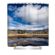 Cloud Above Dry Lagoon Shower Curtain