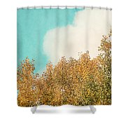 Cloud And Birches Shower Curtain