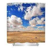 Cloudscape At Sahara Desert Shower Curtain