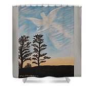 Cloud Angel In Acryics Shower Curtain