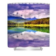 Cloud Cover On Lake Patricia Shower Curtain