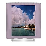 Cloud Faces Over St. George's, Bermuda Shower Curtain