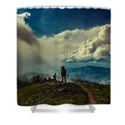 Cloud Factory Shower Curtain