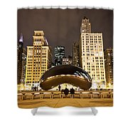 Cloud Gate And Skyscrapers Shower Curtain