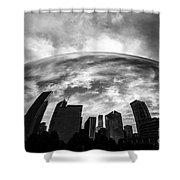 Cloud Gate Chicago Bean Shower Curtain by Paul Velgos