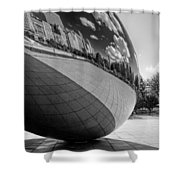 Cloud Gate Teardrop Black And White Shower Curtain
