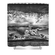 Cloud In Black And White Shower Curtain