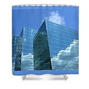 Cloud Mirror Shower Curtain