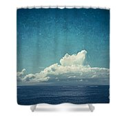 Cloud Over Island Shower Curtain