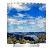 Cloud Pockets Shower Curtain