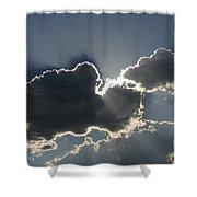 Cloud Rays Shower Curtain