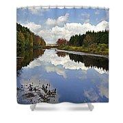 Autumn Lake Reflection Landscape Shower Curtain