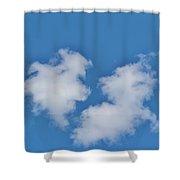 Cloud Shapes Shower Curtain