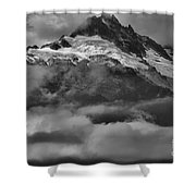 Cloud Smothered Peaks Shower Curtain
