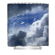 Cloud Surfing Shower Curtain