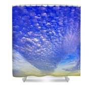 Cloud Tails At Sunrise Shower Curtain