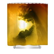 Cloud Whirl Shower Curtain
