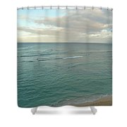 Clouded Sea Shower Curtain