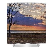 Clouding Up On Oyster Bay Shower Curtain