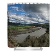 Clouds Above Eel River Shower Curtain