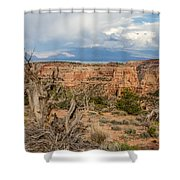 Clouds Above Shower Curtain