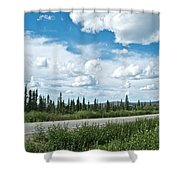 Clouds Above Taylor Highway To Chicken-ak Shower Curtain