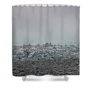 Clouds And Ice Shower Curtain