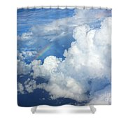 Clouds And Rainbow Shower Curtain