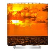 Clouds And Sun Play  Shower Curtain