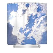 Clouds And Sunshine Shower Curtain