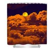 Clouds And The Moon Shower Curtain