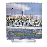 Clouds And Waves Shower Curtain