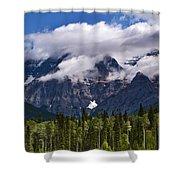 Clouds Around Mountains, Robson Shower Curtain