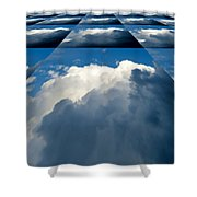 Clouds Ascending Shower Curtain