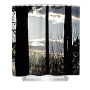 Clouds At Dusk Shower Curtain