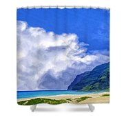 Clouds At Polihale Shower Curtain