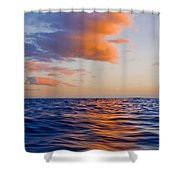 Clouds At Sunset - Racing Across The Water At Sunset Shower Curtain