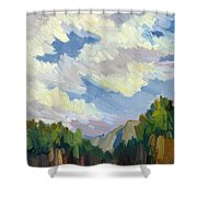 Clouds At Thousand Palms Shower Curtain